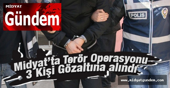 Midyat'ta Terör Operasyonu: 3 Gözaltı