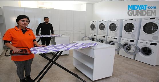 Öğrencilere Çamaşırhane Hizmeti