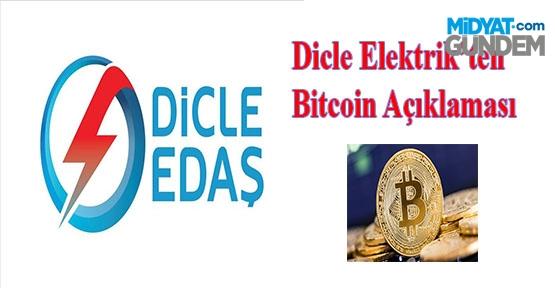 Dicle Elektrik, Kaçak Elektrikle Bitcoin üretildiği haberleri gerçeği yansıtmıyor