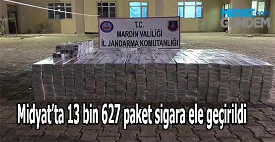 Midyat'ta 13 bin 627 paket sigara ele geçirildi
