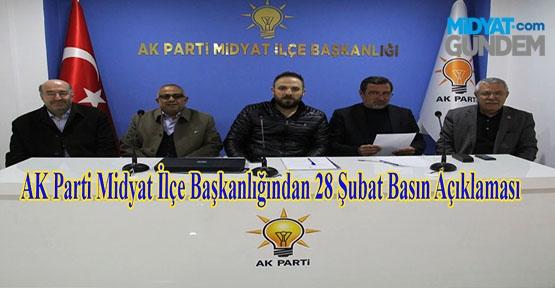 AK Parti Midyat İlçe Başkanlığından 28 Şubat Basın Açıklaması