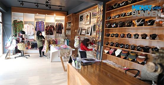 Kadınların el emeği göz nuru Amber satış merkezi açıldı