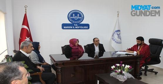 Mardin'de Müftülük Makamında İlk Nikah Kıyıldı