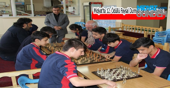 Midyat'ta 12. Ödüllü Faysal Durmaz Satranç Turnuvası Başlıyor