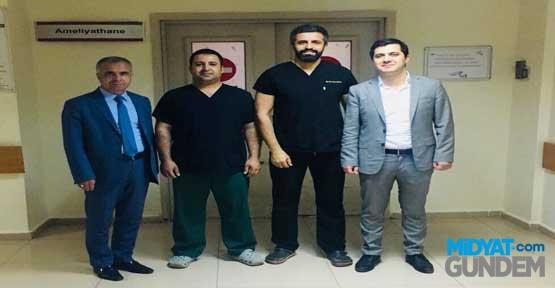 Mardin'de ilk leğen kemiği kırığı ameliyatı yapıldı