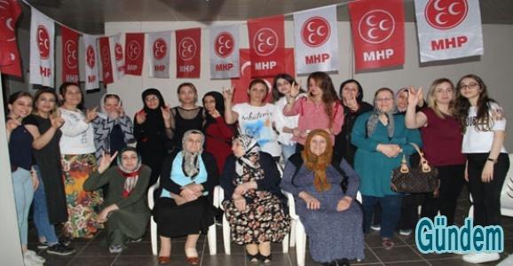 MHP Midyat Kadın Kollarından seçime destek
