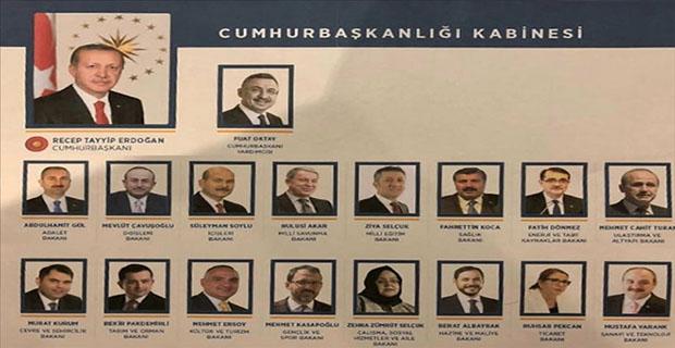 Yeni Hükumet Kabinesi
