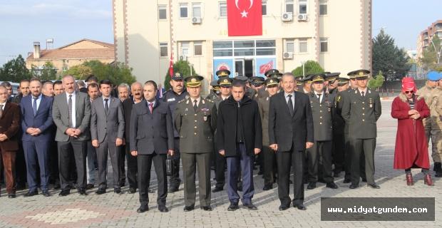 Midyat'ta 10 Kasım Atatürk'ü Anma Töreni Düzenlendi
