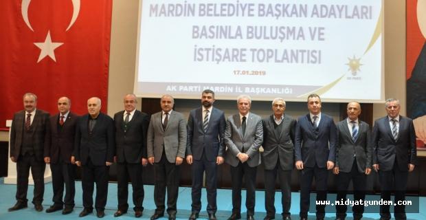 AK Parti Mardin adayları basınla buluştu