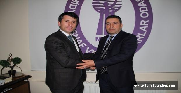 Diyarbakır DİYMESOB Başkanı Asana, Direkçi ile Bir araya Geldi