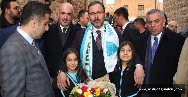 Gençlik ve Spor Bakanı Kasapoğlu, Midyat'ta Geldi