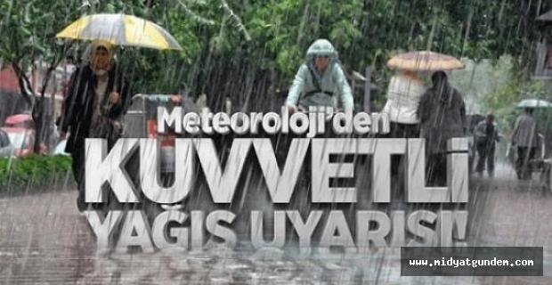 Meteoroloji'denkuvvetli yağış uyarısı