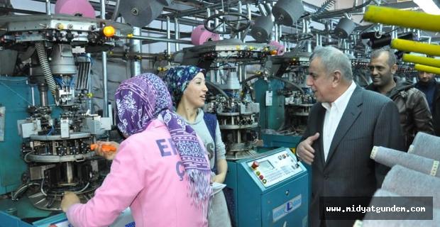 Şahin, Tekstil Fabrikalarını Ziyaret Etti