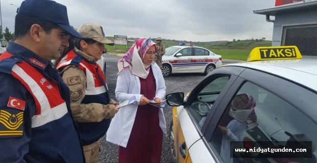 Midyat'ta yolcular kanser hastalığı hakkında bilgilendirildi