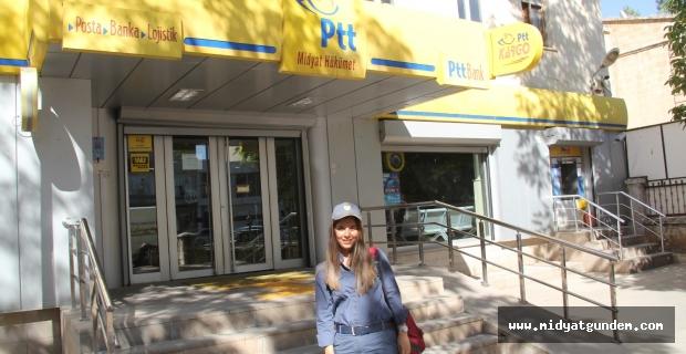 Midyat'ta ilk kadın postacı Şeyma Ayhan