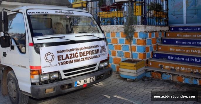 Mardin Valiliği ile Büyükşehir Belediyesinden Elazığ'a yardım