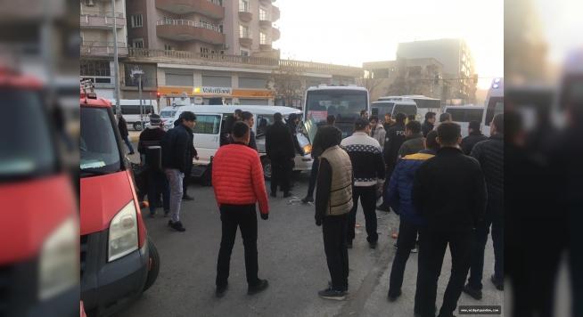 Midyat'ta maddi hasarlı trafik kazası