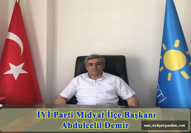 İYİ Parti İlçe Başkanı Demir'den Ramazan Bayramı Mesajı