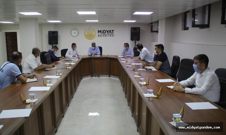 Midyat Belediyesinde Koronavirüs tedbir toplantısı gerçekleşti