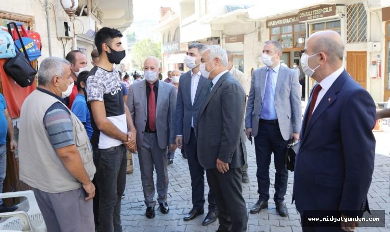 Bakan Yardımcısı Mehmet Ersoy, Savur'da İncelemelerde Bulundu