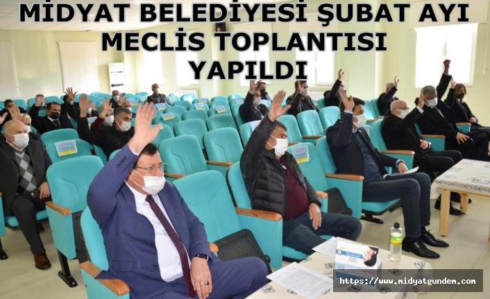 Midyat Belediyesi Şubat ayı Meclis Toplantısı yapıldı