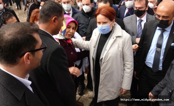 İYİ Parti Genel Başkanı Akşener, Midyat'a geldi