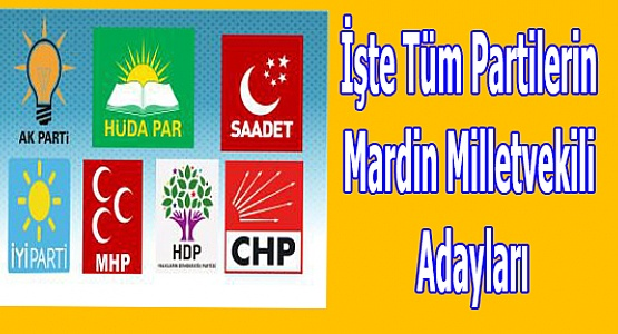 İşte Tüm Partilerin Mardin Milletvekili Adayları