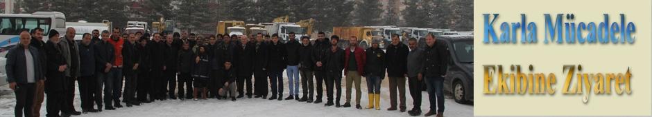 Başkan yardımcıları, Karla mücadele ekibini ziyaret etti