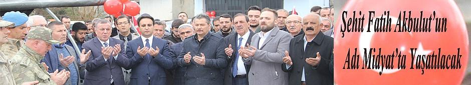 Şehit Fatih Akbulut'un adı caddeye verildi