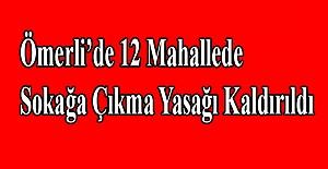 Ömerli'de 12 Mahallede Sokağa Çıkma Yasağı Kaldırıldı