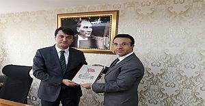 BİK Şube Müdürü Günbegi, Kaymakam Öztürk'ü Ziyaret etti