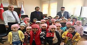 Minik öğrencilerden ilçe emniyet müdürlüğüne ziyaret
