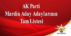 AK Parti Mardin Aday Adaylarının Tam Listesi