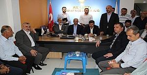 AK Partili Milletvekillerinden Midyatlıya ve Şahin'e Teşekkür Ziyareti