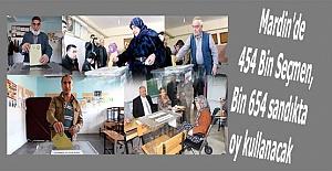 Mardin'de 454 Bin Seçmen, Bin 654sandıkta oy kullanacak