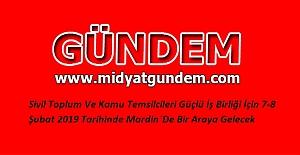 Mardin'de Sivil Toplum Günleri düzenlenecek