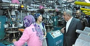 Şahin, Tekstil Fabrikalarını Ziyaret...