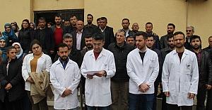 Sağlık çalışanlarına şiddete Midyat'tan tepki
