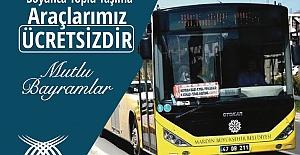 Bayram'da toplu taşıma araçları ücretsiz