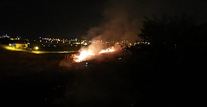 Midyat'ta çıkan yangın korkuttu