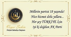 bspan style=color:#ff0000Şahinden, AK Parti#039;nin 18..../span/b