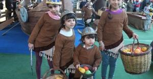 Çocuklar Viking Köyünde Doyasıya Eğlendi