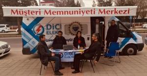 DİCLE Elektrik mobil müşteri memnuniyet aracı Midyat'ta