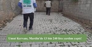 Umut Kervanı, Mardin'de 13 bin 240 lira yardım yapıldığını açıkladı