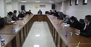 Midyat Belediyesinde korona virüs toplantısı