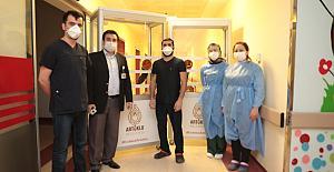 Artuklu Belediyesi'nden Devlet Hastanesinde corona tedbirleri