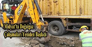 Midyat'ta doğalgaz çalışmaları yeniden başladı