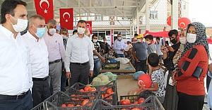 Midyat'ta Organik Köy Ürünleri Pazarı Açıldı