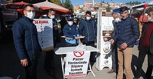 Midyat'ta Pazarlarda Koronavirüs önlemleri...