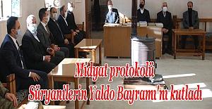 Midyat protokolü Süryanilerin Yaldo Bayramı'nı kutladı